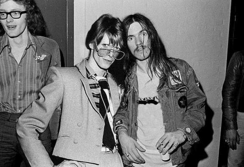 David Bowie and Lemmy Kilmister