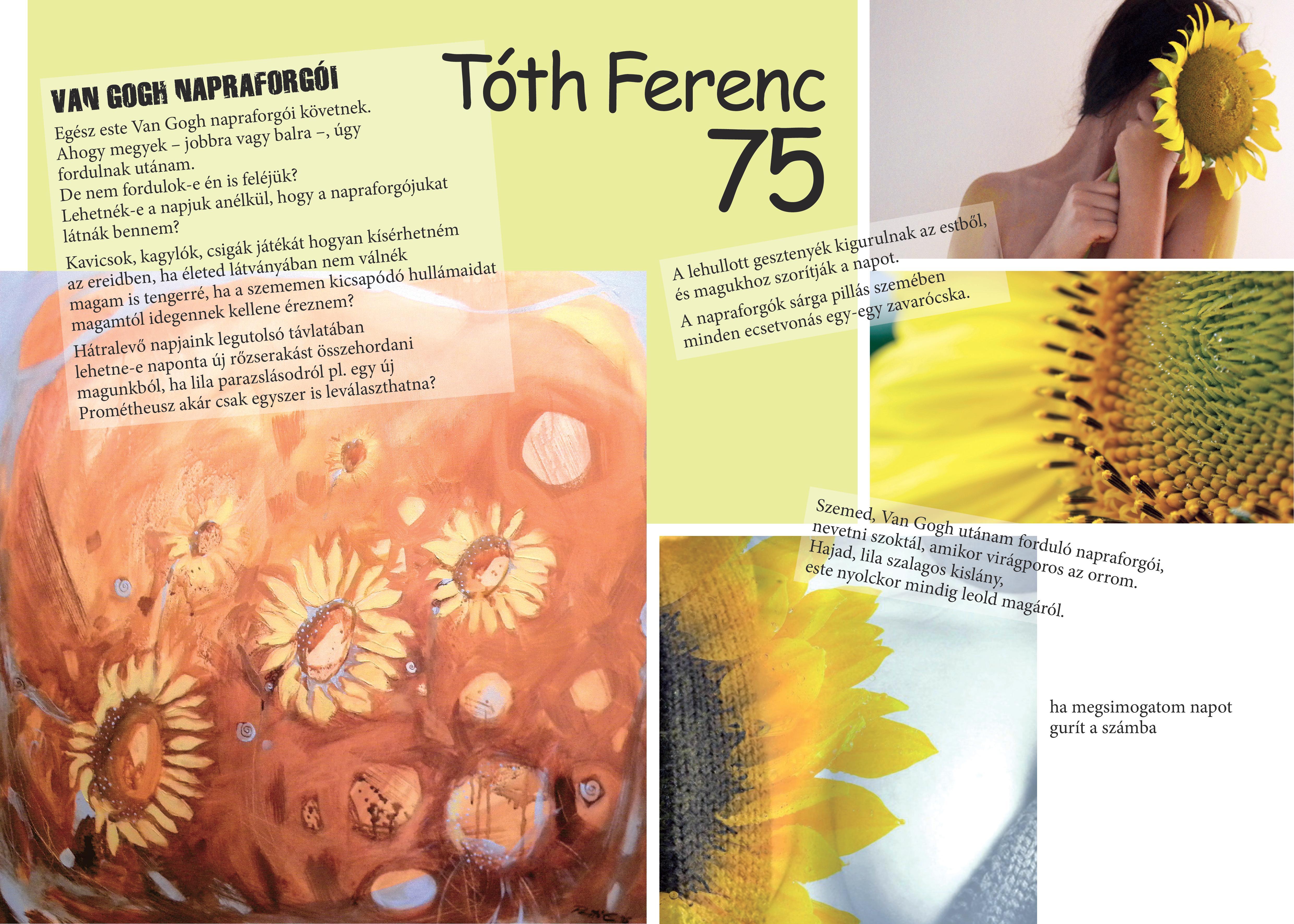 Belső borító: Tóth Ferenc 75 - Pesti Emma, Móricz Ildikó és Rózsa Szabina